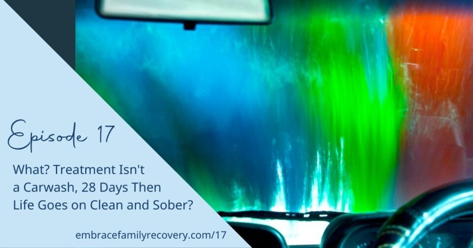 Ep 17 - What? Treatment Isn't a Carwash, 28 Days Then Life Goes on Clean and Sober?